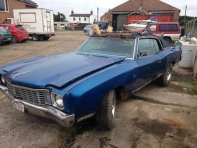 1972 Chevrolet Monte Carlo - Engine 350 - 5.7L- 4 Barrel - Project Car
