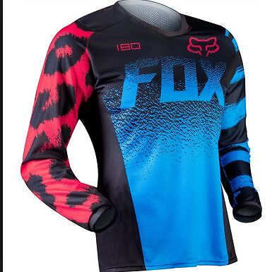 FOX YOUTH KIDS MOTOCROSS JERSEY Kids Medium GIRLS PEEWEE Dirt bike BMX blue red