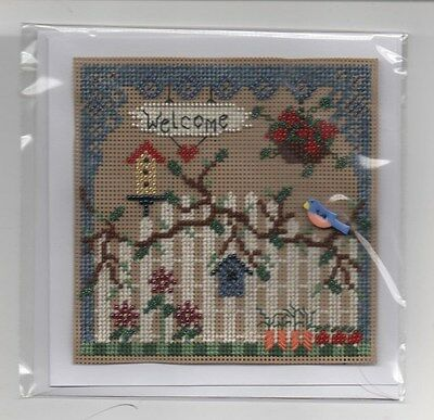 completed cross stitch mill hill card