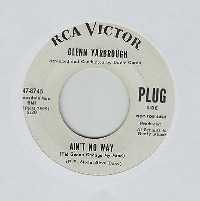 "GLENN YARBROUGH Ain't No Way/You Can't Ever Go Home Again USA 7"" EX Cond"