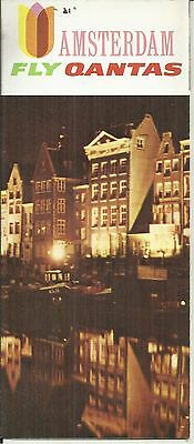 1967 Qantas Airlines Fly To Amsterdam Tourist Brochure