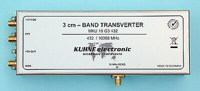 3CM Transverter, 10 GHz, IF 432 MHz, DB6NT, Kuhne electronic 10GHz/432MHz