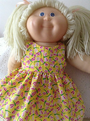 Handmade dolls clothes for Baby Born/Cabbage Patch. ~ Yellow Dragonflies Dress