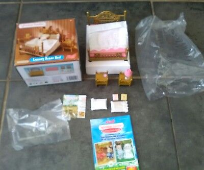 Boxed Sylvanian Families Luxury Brass Bed Set