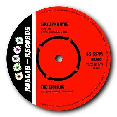 "THE EXCELLOS - ""JEKYLL & HYDE"" b/w ""SCRATCH 'N' SNIFF"" DOUBLE SIDED BOP OUT.HEAR"