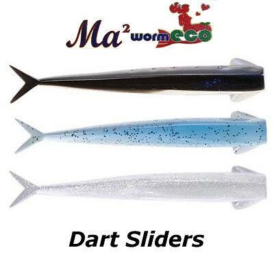 Artificiale MARIA YAMASHITA Ma Worm Dart Sliders Soft Bait Lure Blister 5/6 Pz.