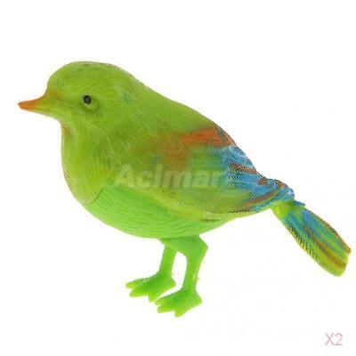 2x Singing Bird Plastic Toys Adults Collectable Gifts Party Favors