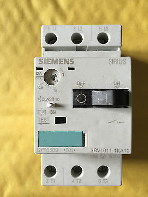 Siemens 3RV1011-1KA10 0.9-1.25A Manual Starter Motor Breaker 1no/1nc SMMP0250