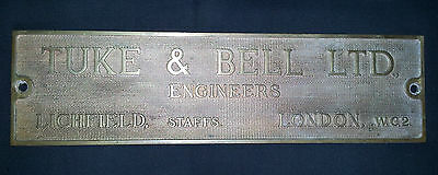 Vintage Brass Name Plate cast