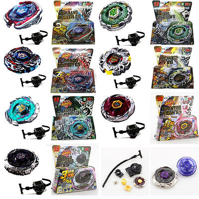 Rare Beyblade Fusion Top Metal Fight Master 4D Rapidity Launcher Set Kids Toy UK