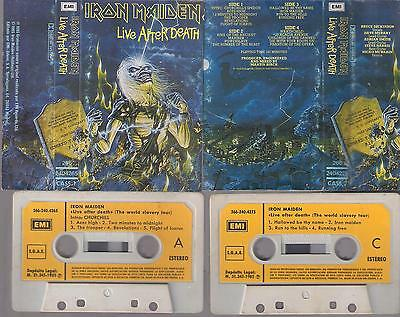 IRON MAIDEN  Live afther death  DIFFICULT SPANISH  DOUBLE   CASSETTE   SPAIN
