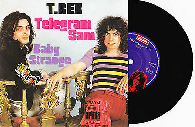 "T. Rex - Telegram Sam / Cadilac / Baby Strange - 7"" EU Vinyl 45 - New & Unplayed"