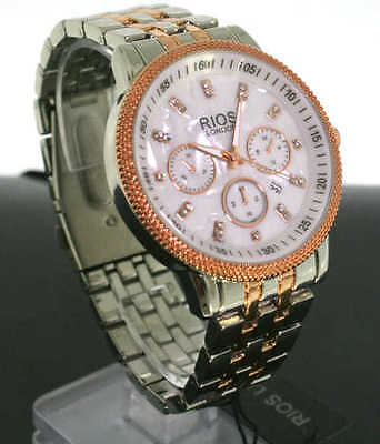 Women Watch - RIOS LONDON - BRAND NEW -AMAZING LOOK- ROSE GOLD / SILVER