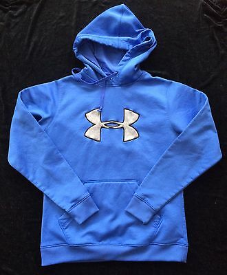 Under Armour Youth Pullover Hoodie, Sz L, Ultra Blue