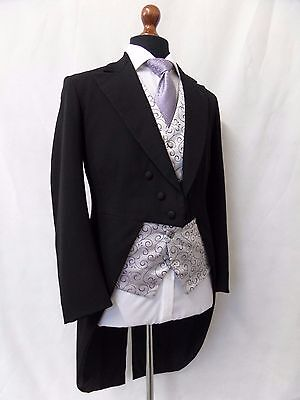 Men's Vintage Bespoke 1930's Morning Coat Swallow Tail Tailcoat Size 38R SS8102