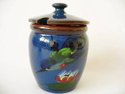Torquay Ware Diving Kingfisher  Preserve Jar  - Longpark Pottery