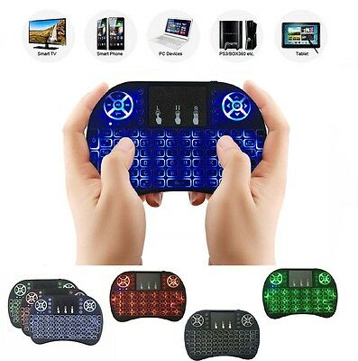 mnt TASTIERA RETROILLUMINATA KEYBOARD WIRELESS TOUCHPAD SMART TV BOX ANDROID