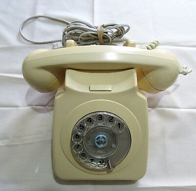 Vintage Retro Rotary Dial Telephone Cream WORKING with a BT conversion