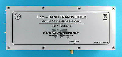 3CM Transverter, 10 GHz, IF 432 MHz, milled aluminium case, DB6NT, 10GHz/432MHz