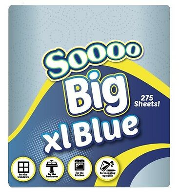 Industrial Size 2 Ply So Big XL Centrefeed Blue Rolls Kitchen Paper Towels