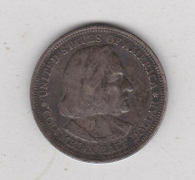 Usa 1892 Columbian Exposition Half Dollar In Near Very Fine Condition Or Better
