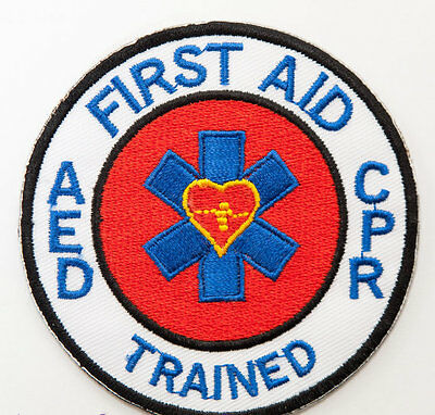 First Aid CPR Trained Patch Embroidered Badge Paramedic CPR AED Ambulance Bag