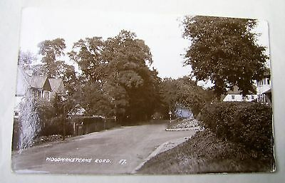 Old Photographic Postcard Woodmansterne Road Carshalton Sutton Greater London