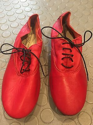 ANNIEL Red Soft Leather shoes / Size UK5, EU38 new