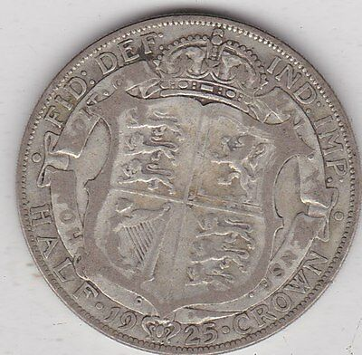 1925 George V Half Crown In A Used Fine Condition