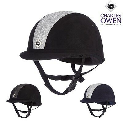 Charles Owen YR8 Black Sparkly Riding Hat Size 59 Brand New