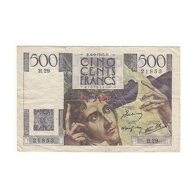 500 Francs CHATEAUBRIAND 06-09-1945 Fayette 34.2 [500F207 FR]