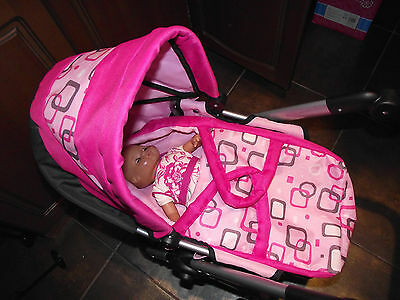 girls kids pushchair and doll