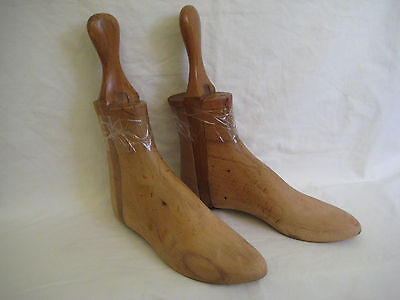 Antique Wooden Boot Trees, Size 7/8