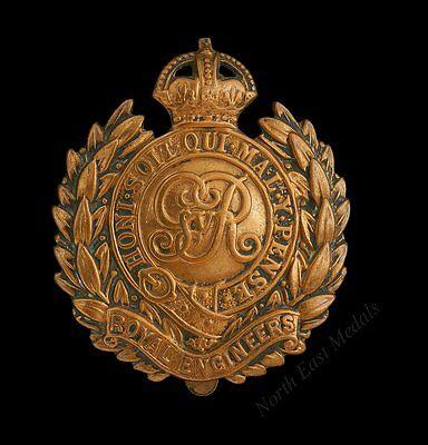 Great War Economy Issue Royal Engineers Cap Badge GVR