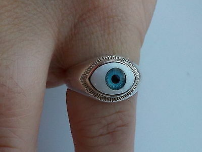 Silver Ring With Eye Bezel Metal Detecting Find.