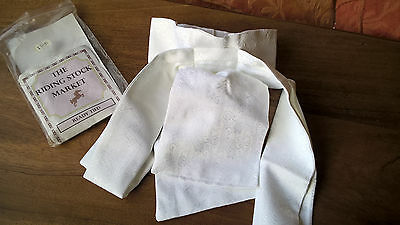 Ready Tied White Brocade Riding Stock - Lovely