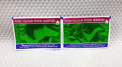 Food Colour Green No.973 2 g , 2 Bags For Cooking