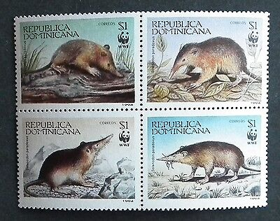 Dominican Republic (1994)  WWF / Rodents / Wild Animals - Mint (MNH)