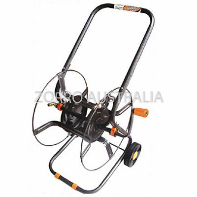 "AIFA Steel Reel Hose Cart Trolley 12MM -1/2"" Holds up to 70M 1/2"" Hose RRP $189"