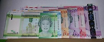 Full Set £100 + £50 - £20 - £10 - £5 - £1 States Of Jersey Bank Notes Unc New