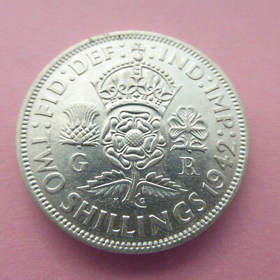1942 Two Shilling coin