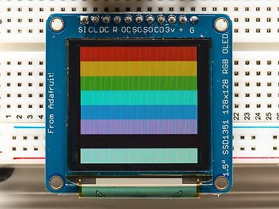 "Adafruit OLED Breakout Board - 16-bit Color 1.5"" w/microSD holder [ADA1431]"