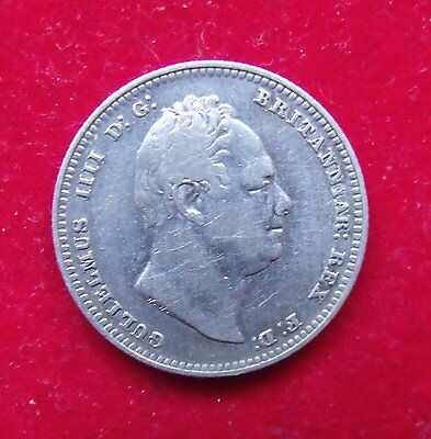1834 William IV silver Shilling scarce coin good condition