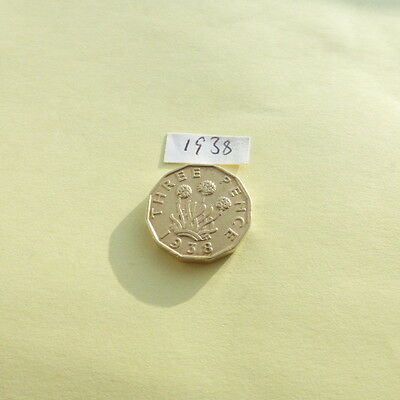 1938 King George VI 3 Pence