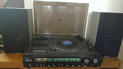 Vintage Sanyo Music Center G2001 -record player/Radio casse Excellent condition
