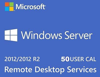 Remote Desktop Services ~ 50 User or Device CALs for Server 2012 R2 (RDS)