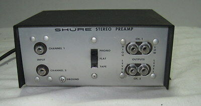 Shure Model M64 Stereo Preamp w/ Phono