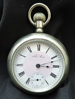 New Era Pocket Watch-18 Size-Train Etched on Back Cover