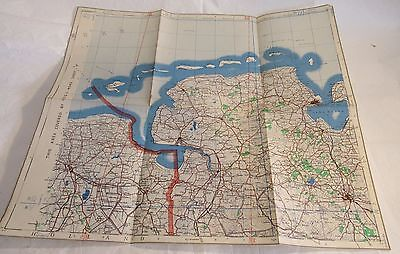 1942 WWII Holland Map GSGS British Geographical General Staff Air Force Vintage