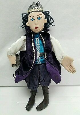 Folkmanis Character Puppet Prince Simpleton Vintage Hand Finger Puppet Doll